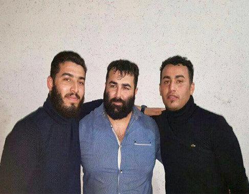 میثم رضایی در کنار حسین آرامیده پنجه طلای مازندران