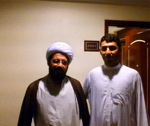 حاج میثم رضایی در کنار استاد مسعود عالی