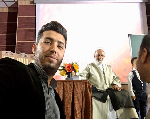 میثم رضایی در کنار حاج آقا محسن قرائتی
